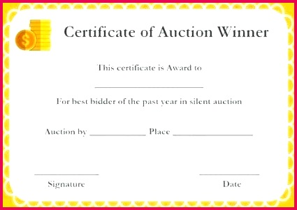 silent auction donation certificate templates certificates and template templates powerpoint presentation silent auction winner certificate template