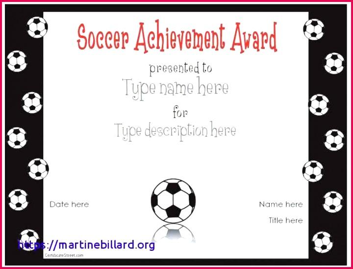 Soccer Award Certificate Template New Turabian Template 0d