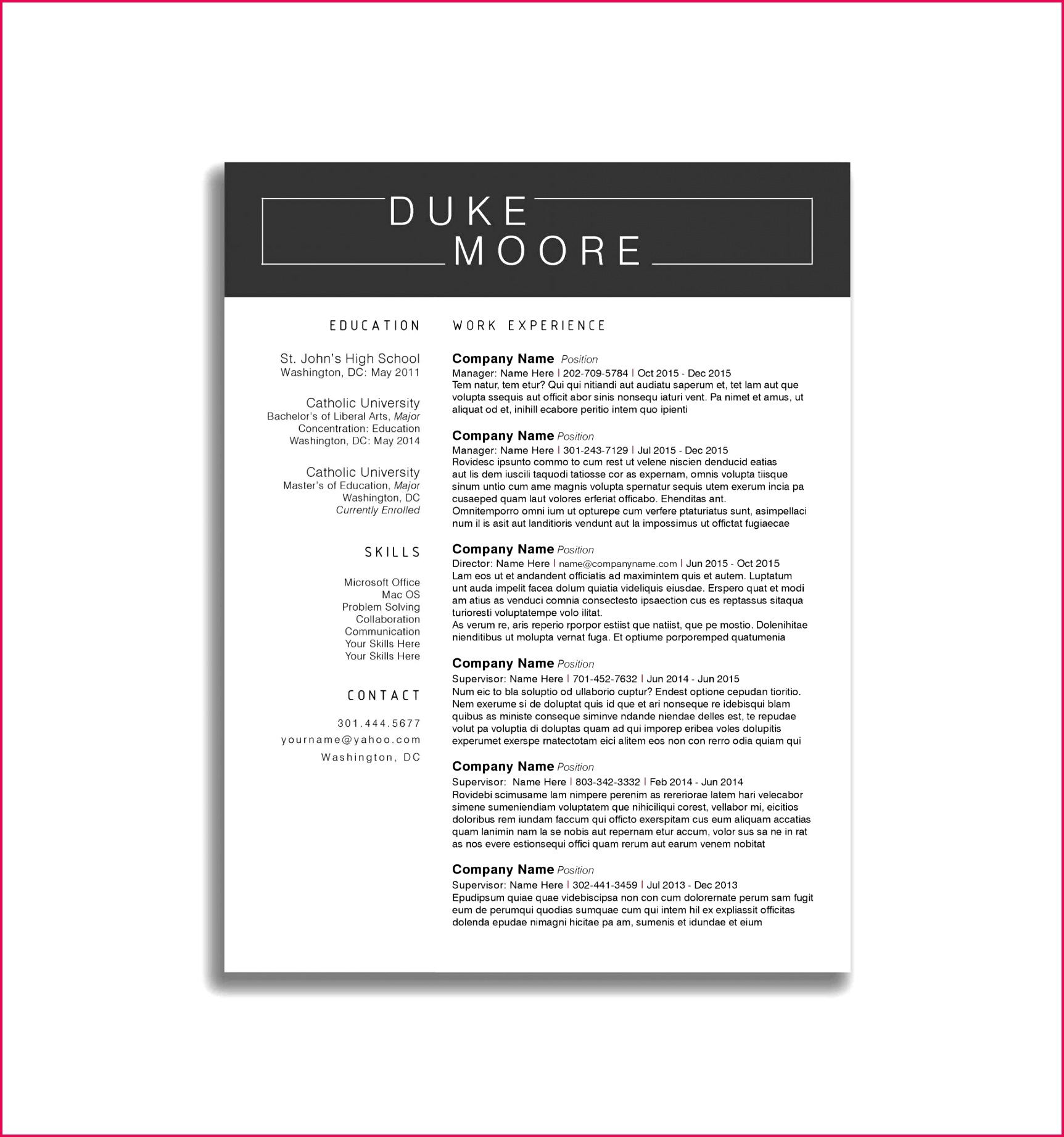 Resume Template for Engineers Network Engineer Resume Template Reference Resume Sample Doc