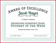 6 Award Certificate Templates Elementary School