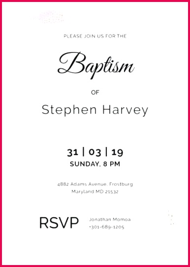 sample baptism invitation template templates free example format psd