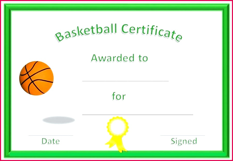 basketball award certificates green player of the day certificate template rugby to print