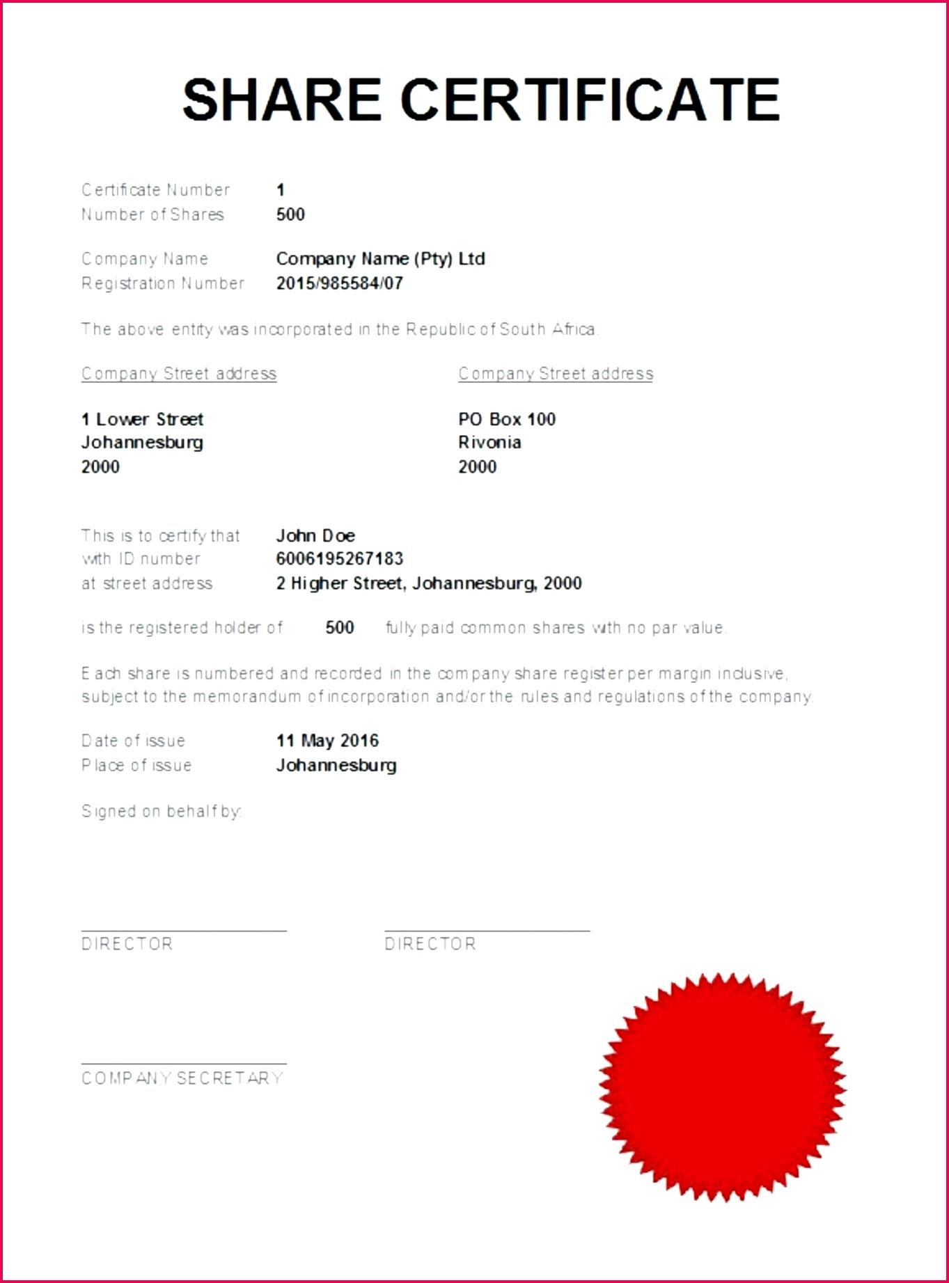 5 Bc Share Certificate Template 79873 | FabTemplatez