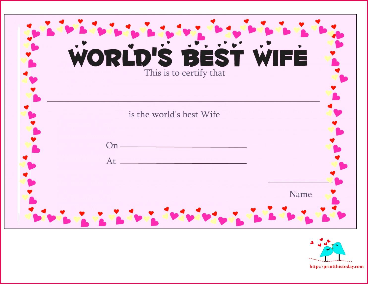 love certificate 12