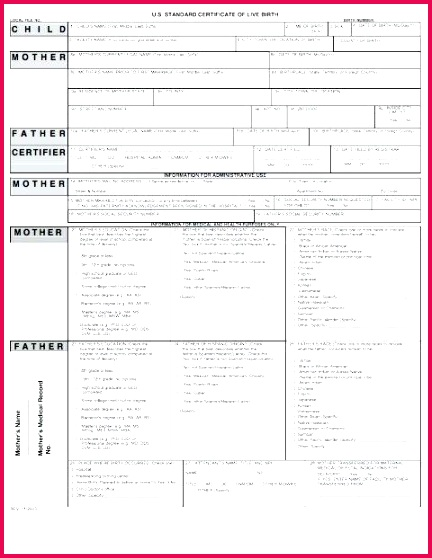 birth certificate templates word a template lab of live free