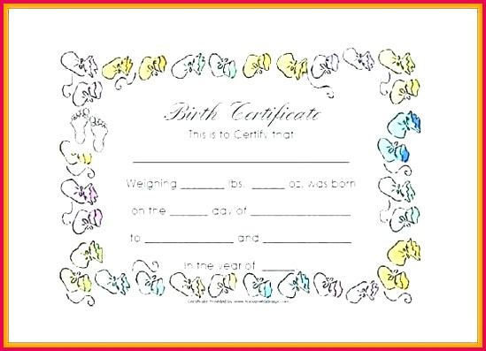 blank birth certificate template 2 printable pictures of certificates