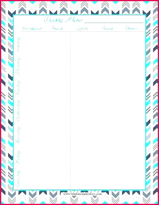 blank word template weekly dinner menu inspirational free printable meal planning templates and a week s worth bl
