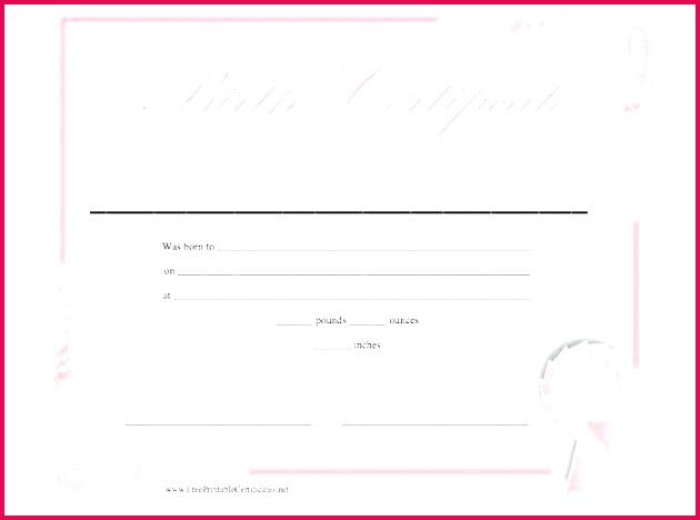 birth certificate template free blank uk sample pdf