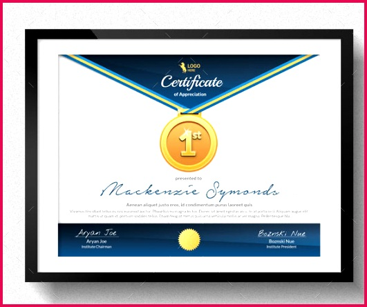 certificate template sport certificate sample