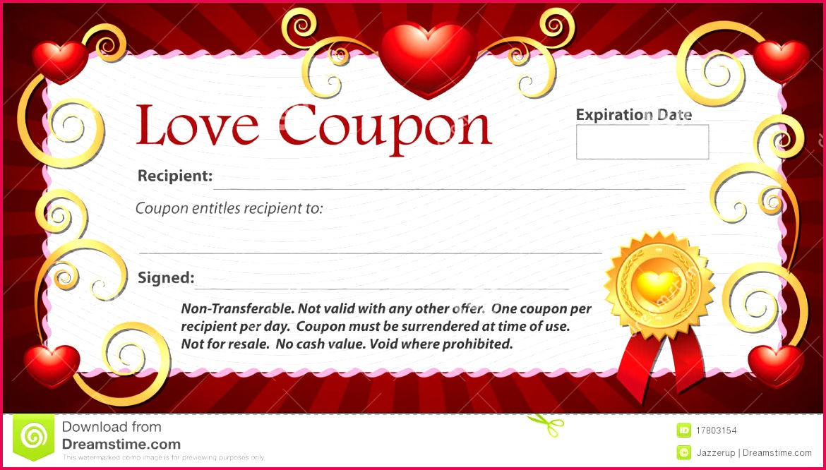 blank love coupon