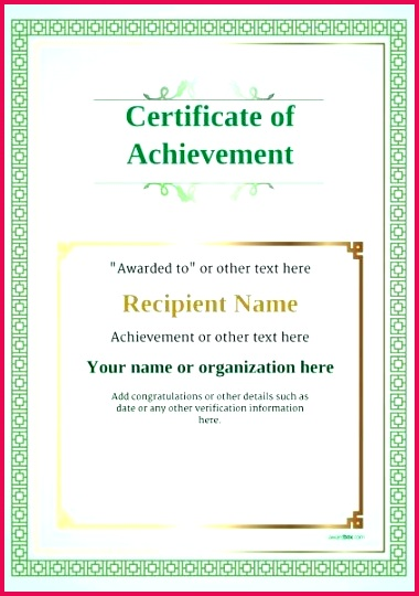certificate of achievement template award classic style 5 blank templates