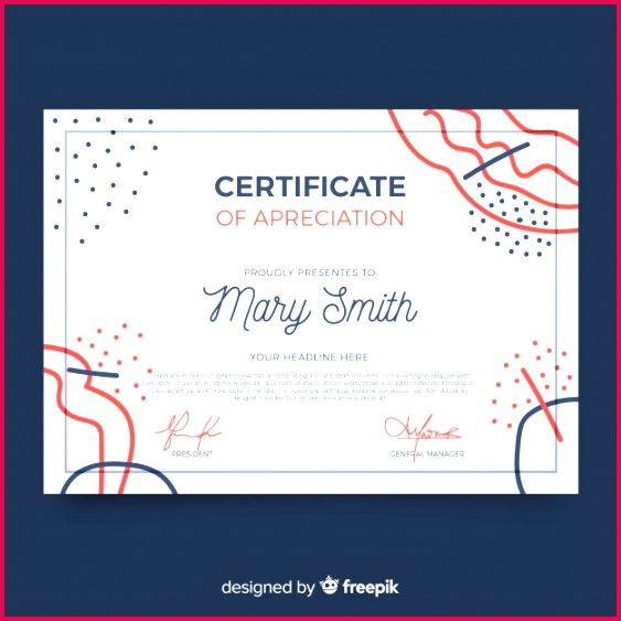 certificate template with abstract shapes 23