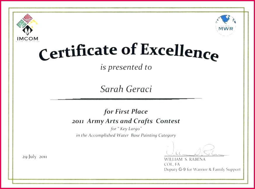 prize certificates templates free unique place award certificate first template image