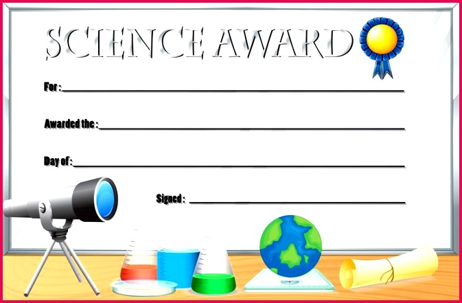 vector certificate template for science award