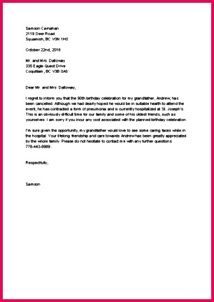 Event Cancellation Letter
