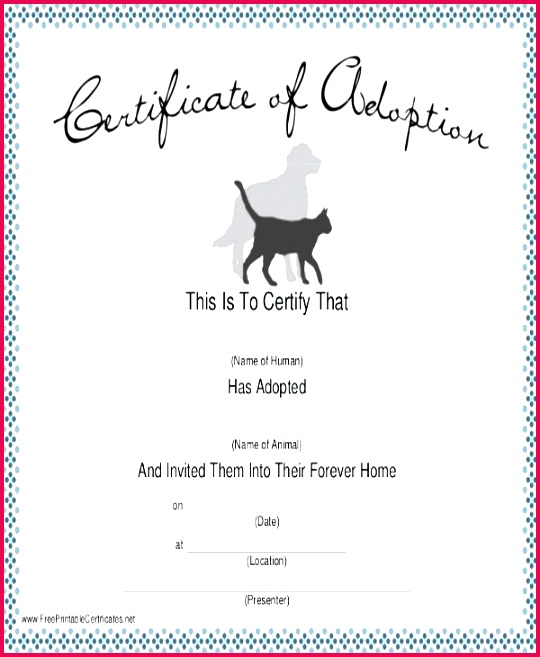 dog certificate template free pet birth 7 translation word c