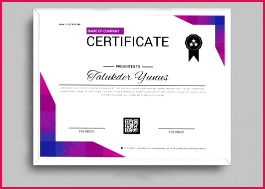 Classic Certificate Design Template 4