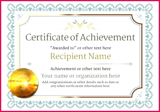 5 free sample certificate of achievement templates award examples excellence template editable