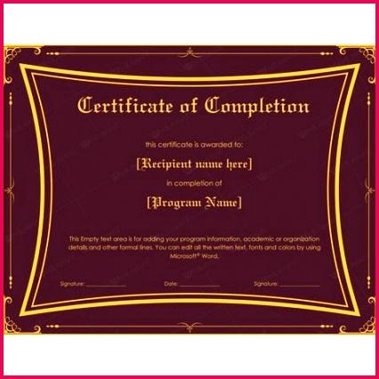 Certificate Achievement Word Template Unique Template for Certificate Pletion Luxury Word Certificate