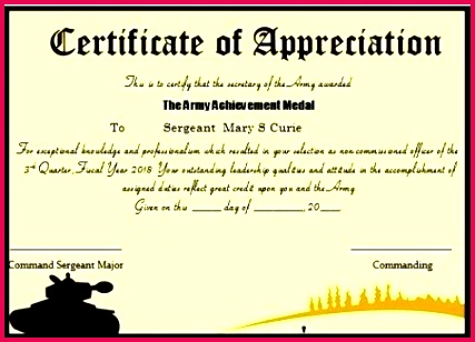 army good conduct medal certificate template pretty achievement literals