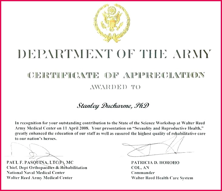free retirement certificates template army certificate of appreciation verbiage large navy synonym science