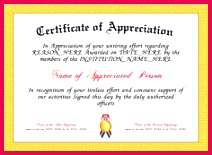 Appreciation Here is our free Appreciation Certificate for you to and print Make