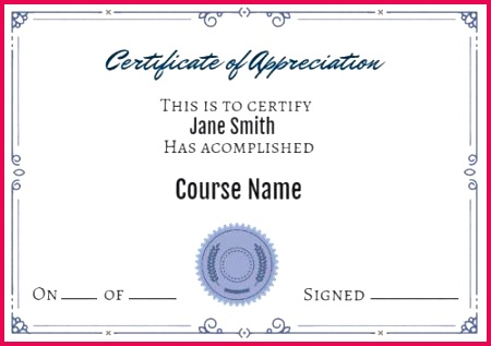 Simple Professional Certificate of Appreciation