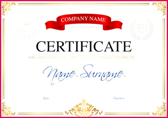 certificate pletion template 1284