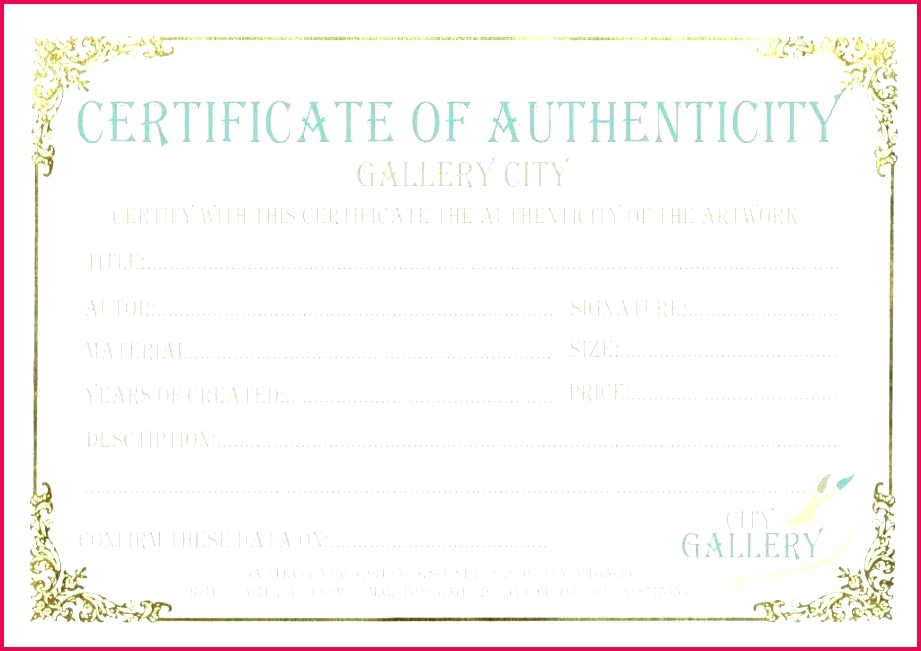free certificate of authenticity template word art authentication sample certificate free art authentication certificate template