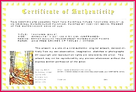 unique limited edition print certificate authenticity template letter of provenance best free lett