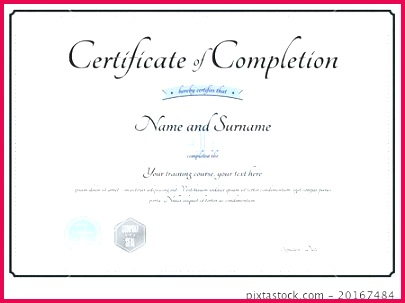 certificate of pletion template in vector training word
