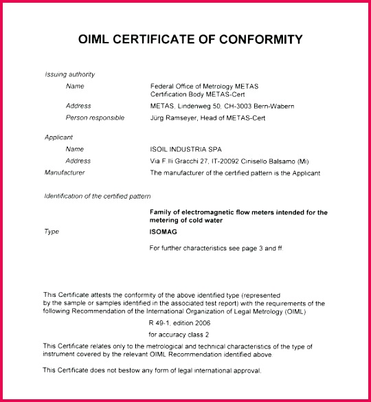 certificate of conformance template pdf investment agreement or program participation unique
