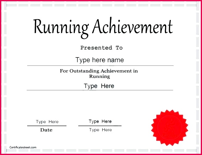 sports certificate templates free certificates running award template condo word