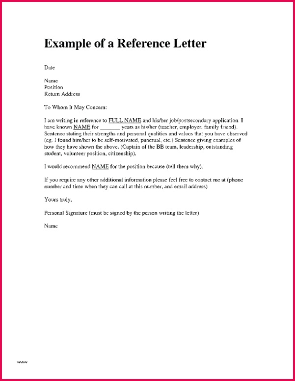 Sample Character Reference Letter for A Friend for Immigration climatejourney