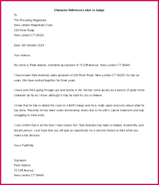 good reference letter template best of re mendation 5
