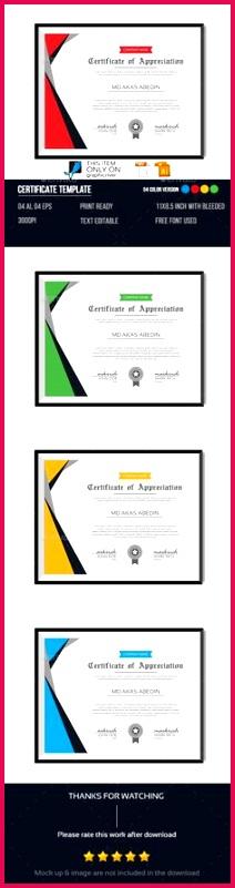 Certificate Template Certificate Merit Certificate Appreciation Certificate Design Award Certificates