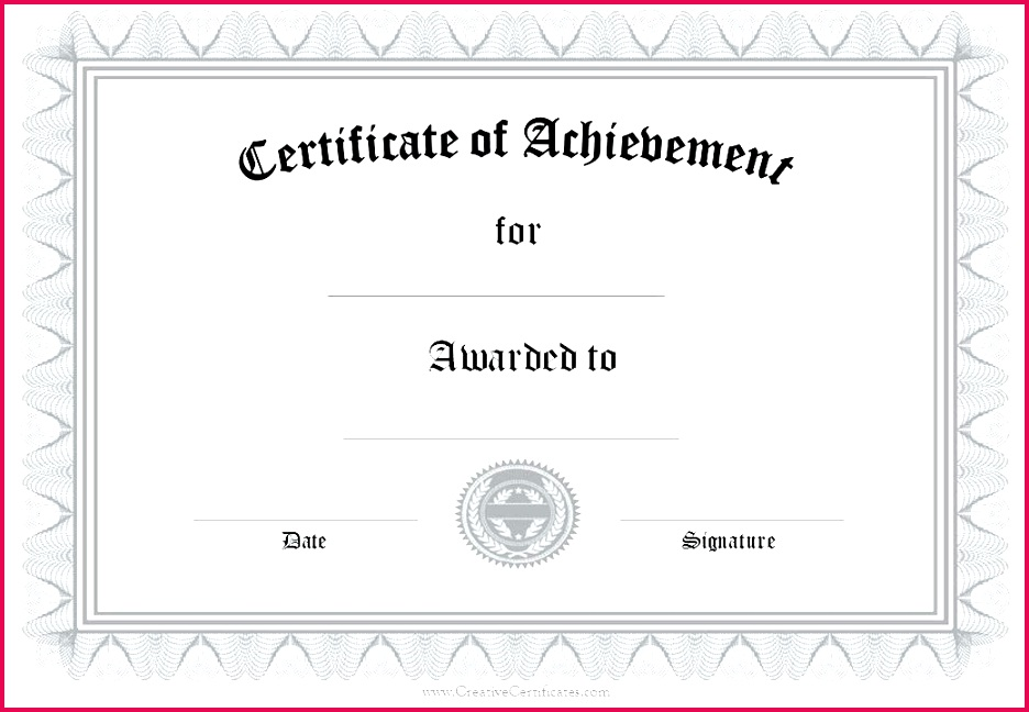 certificate of merit template free blank achievement army