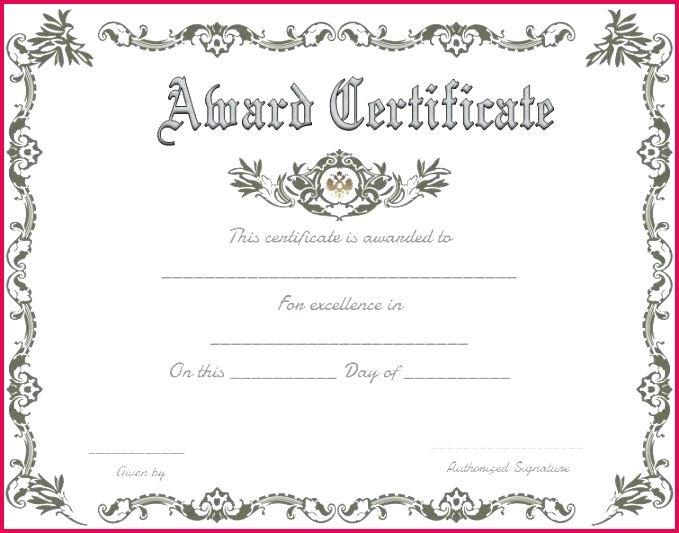 printable certificate of merit template achievement free word simple templates professional luxury ce