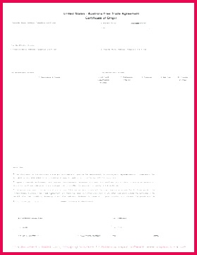 certificate origin form for design and us of template south africa