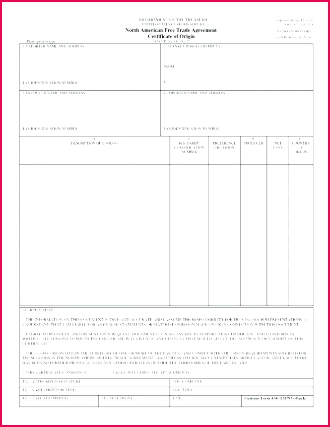 certificate of origin template sample best country form south africa
