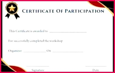 Download Unique Certificate Participation Template Weighoflife Professional Iep Template 0d