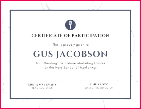 canva vintage white and blue chef participation certificate MAC8WJclcT8