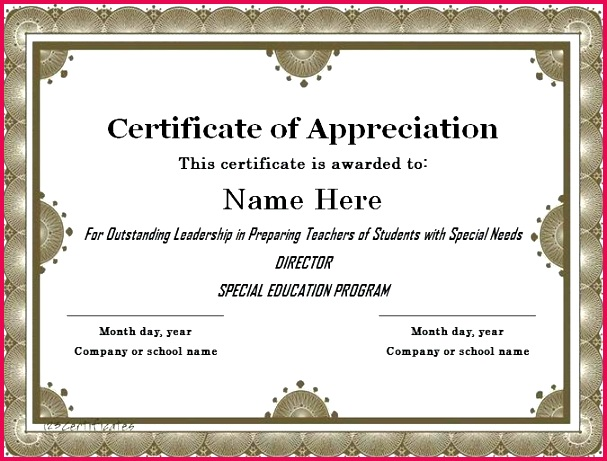 free certificate of appreciation printable certificates for teachers day templates