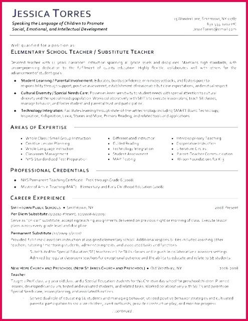 resume of a preschool teacher luxury preschool teacher resume template teacher resume example awesome of resume of a preschool teacher