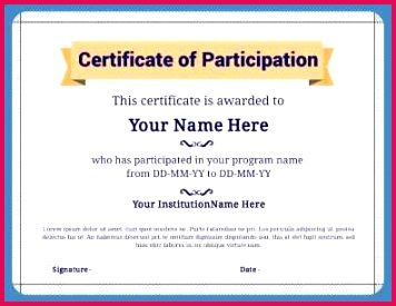 free collection sports participation certificate templates turabian template 0d new