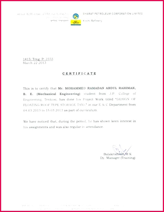 sample project pletion certificate construction letter of pletion template construction work pletion letter format final year project pletion certificate