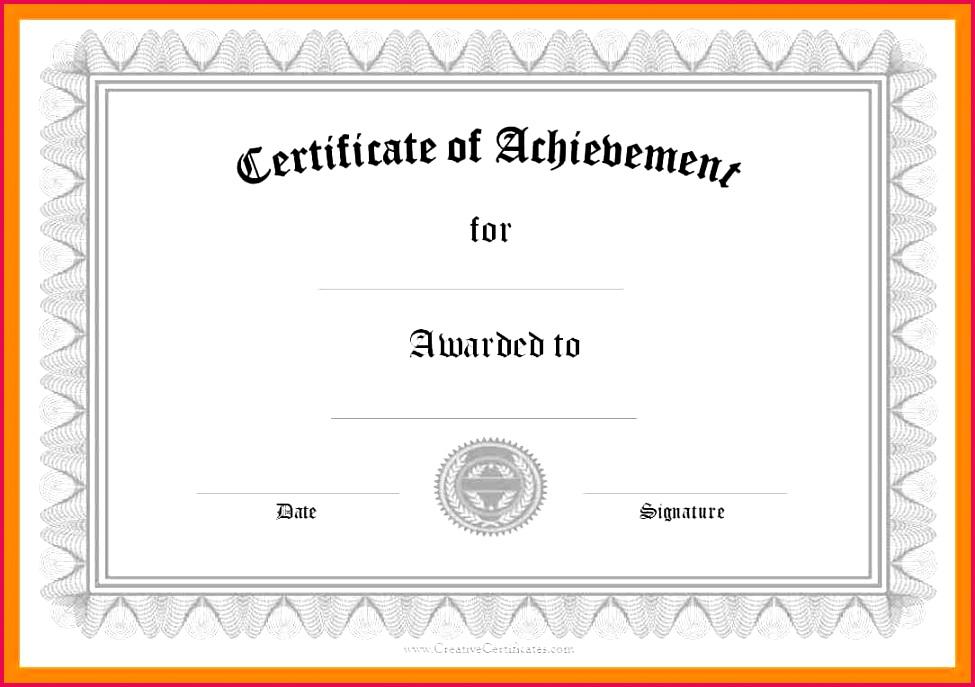 free template certificates in word certificate of pletion free template word certificate of achievement printable word doc