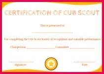 Cub Scout Advancement Certificate Certificate Templates Cub Scouts Free Printables