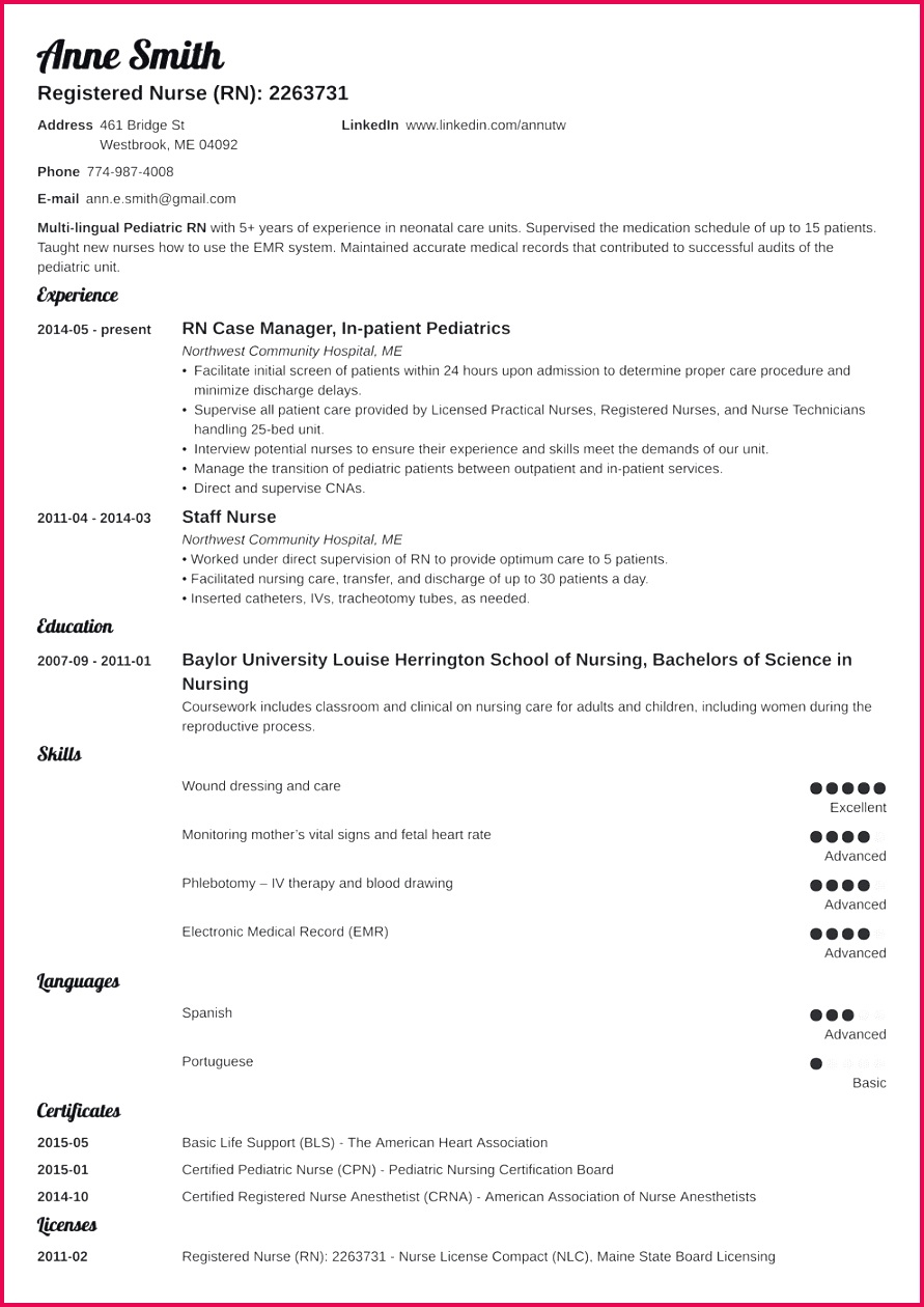nursing resume template valera