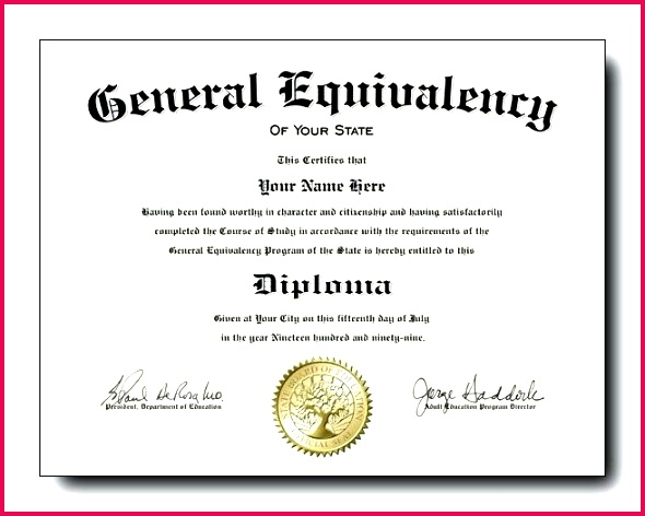 diploma template ged free printable certificate templates